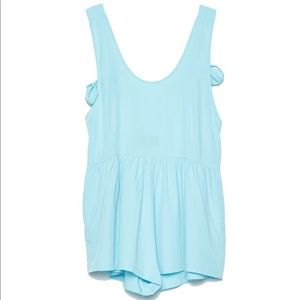 NWT Jeu Illimité Chloe Romper in Turquoise